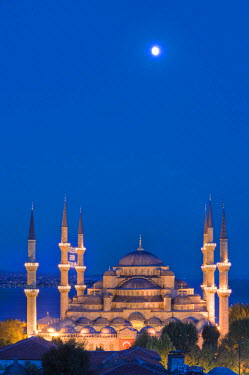 HMS1914091 Turkey, Istanbul, historical centre listed as World Heritage by UNESCO, Sultan Ahmed Mosque, Blue Mosque