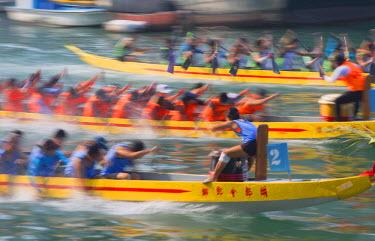 CH10358AW Dragon boat race, Shau Kei Wan, Hong Kong Island, Hong Kong