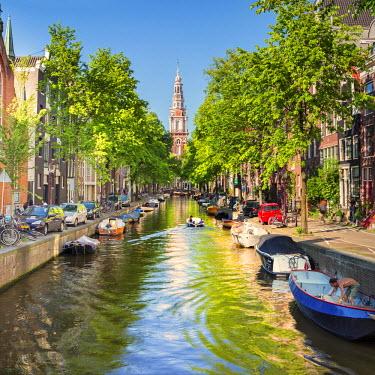 NLD0015AW Netherlands, North Holland, Amsterdam. The Zuiderkerk bell tower