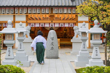 JAP0676AW Shinto shrine of Sumiyoshi Taisha, Osaka, Kansai, Japan