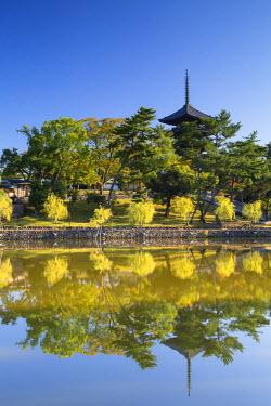 JAP0716AW Pagoda at Kofuku-ji Temple (UNESCO World Heritage Site), Nara, Kansai, Japan