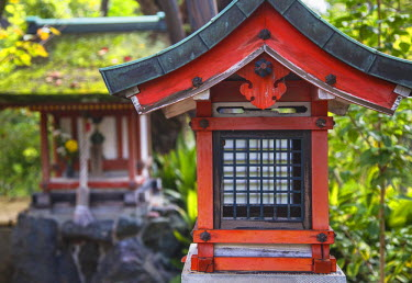 JAP0732AW Shrine at Gangoji Temple (UNESCO World Heritage Site), Nara, Kansai, Japan