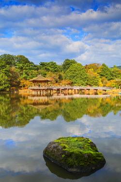 JAP0738AW Ukimido pavilion in Nara Park, Nara, Kansai, Japan