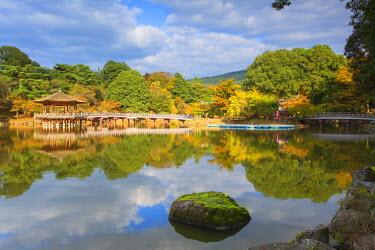 JAP0739AW Ukimido pavilion in Nara Park, Nara, Kansai, Japan