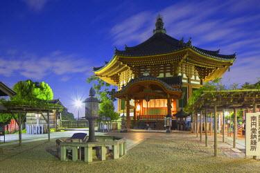 JAP0752AW Pagoda at Kofuku-ji Temple (UNESCO World Heritage Site) at dusk, Nara, Kansai, Japan