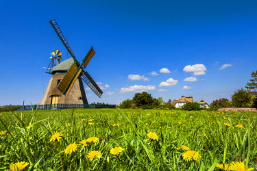 GER8268AW Windmill, Nebel, Amrum Island, Northern Frisia, Schleswig-Holstein, Germany