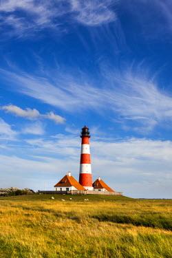 GER8310AW Westerhever lighthouse, Eiderstedt peninsula, Northern Frisia, Schleswig-Holstein, Germany