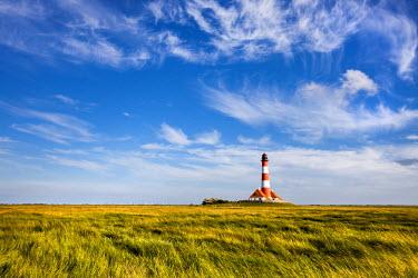 GER8311AW Westerhever lighthouse, Eiderstedt peninsula, Northern Frisia, Schleswig-Holstein, Germany