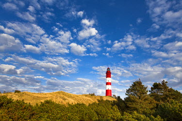 GER8251AW Lighthouse in the dunes, Amrum Island, Northern Frisia, Schleswig-Holstein, Germany
