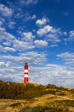 GER8252AW Lighthouse in the dunes, Amrum Island, Northern Frisia, Schleswig-Holstein, Germany