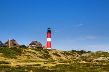 GER8344AW Lighthouse, Hörnum, Sylt Island, Northern Frisia, Schleswig-Holstein, Germany