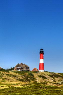 GER8345AW Lighthouse, Hörnum, Sylt Island, Northern Frisia, Schleswig-Holstein, Germany