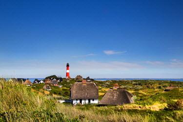 GER8346AW Lighthouse, Hörnum, Sylt Island, Northern Frisia, Schleswig-Holstein, Germany