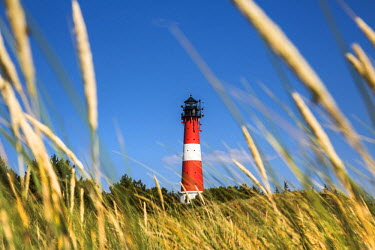 GER8347AW Lighthouse, Hörnum, Sylt Island, Northern Frisia, Schleswig-Holstein, Germany