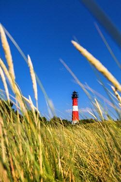 GER8348AW Lighthouse, Hörnum, Sylt Island, Northern Frisia, Schleswig-Holstein, Germany