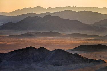 NAM6151AW Africa, Namibia, Namib Desert, Sossusvlei. The arid landscape of Sossusvlei.