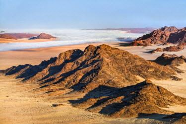 NAM6160AW Africa, Namibia, Namib Desert, Sossusvlei. The arid landscape of Sossusvlei.