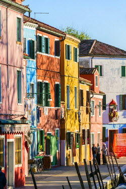 ITA3523AW Italy, Veneto, Venice, Burano. Old women in the streets