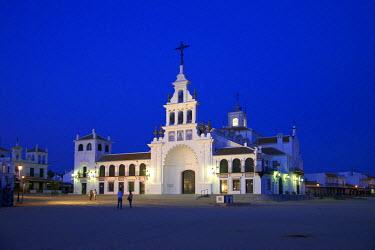 SPA6349AW Santuario de la Virgen del Rocio, Parque Natural de Donana, El Rocio, Costa de la Luz, Andalusia, Spain