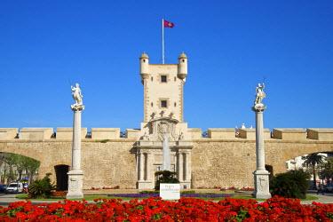 SPA6319AW Puerta de Tierra, Plaza de la Constitucion in Cadiz, Cadiz, Costa de la Luz, Andalusia, Spain