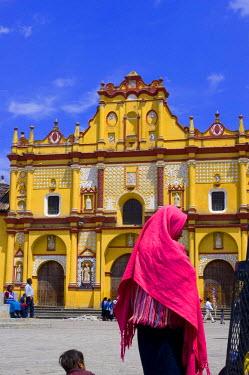 HMS0219879 Mexico, Chiapas State, San Cristobal de las Casas, the cathedral