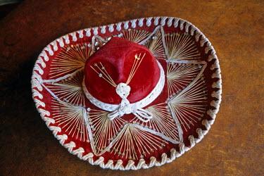 HMS0301623 Mexico, Chihuahua, Mariachi's sombrero