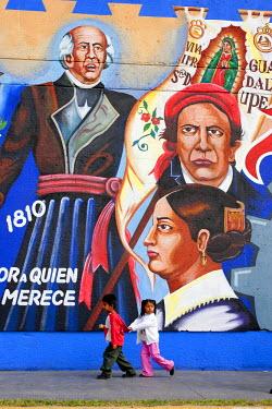 HMS0262864 Mexico, Veracruz State, Orizaba, wall mural