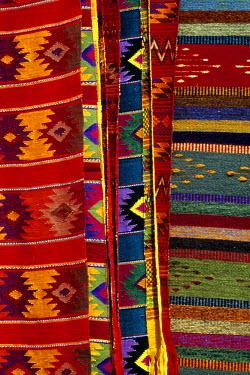 HMS0305650 Mexico, Oaxaca State, Ocotlan, weavings