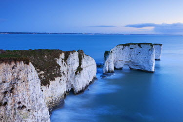 ENG12162AW Old Harry Rocks at Handfast Point are the start of the Jurassic Coast World Heritage Site, Dorset, England. Winter