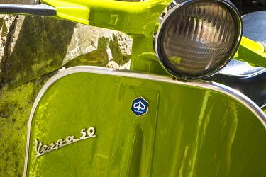 IT06644 Close up of Italian Vespa, Italy