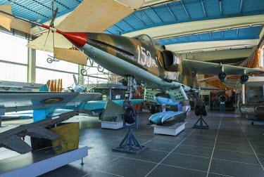 RM01375 Romania, Bucharest, National Military Museum, Romanian-built, Cold War-era, IAR-93 Vulture, ground attack aircraft
