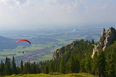 GER8405AW Paraglider at  Kampenwand, Chiemgau, Upper Bavaria, Bavaria, Germany