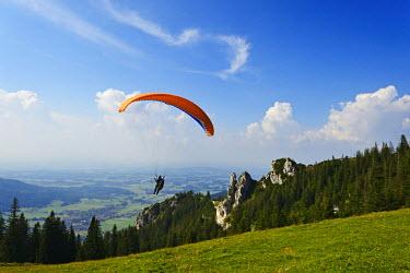 GER8406AW Paraglider at  Kampenwand, Chiemgau, Upper Bavaria, Bavaria, Germany