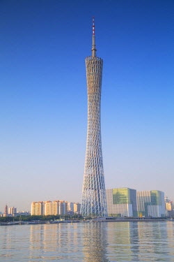 CH10383AW Canton Tower, Tian He, Guangzhou, Guangdong, China