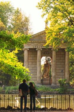 ITA4020AW Italy, Italia. Latium, Lazio. Rome, Roma. Villa Borghese. Park.