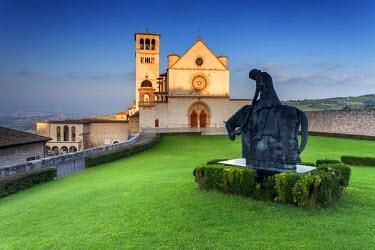 ITA4026AW Italy, Umbria, Perugia district, Assisi, Basilica of San Francesco.