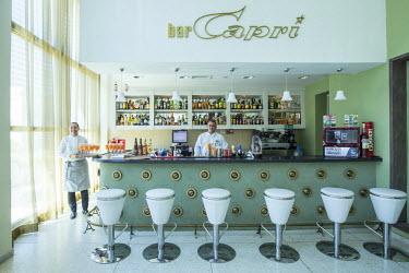 CB01745 Bar inside Hotel Capri, Vedado, Havana, Cuba