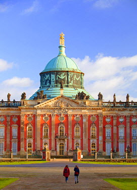 GER8497 Germany, Potsdam, Berlin Brandenburg, Sanssouci. The New Palace at the Sanssouci Park.
