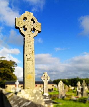 IRL0266AW Ireland, Co.Sligo, Drumcliff, Celtic high cross
