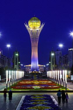 KZ01245 Central Asia, Kazakhstan, Astana, Nurzhol Bulvar - Bayterek Tower