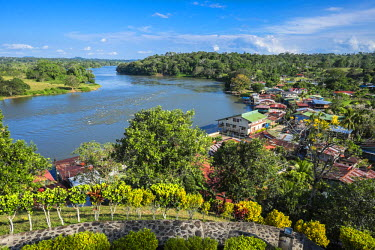 Nicaragua, Rio San Juan Department, the little village of El Castillo along the Rio San Juan, view from the fortress