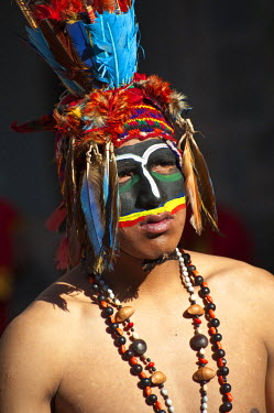 HMS0442384 Peru, Cuzco Province, Cuzco, listed as World Heritage by UNESCO, Inti Raymi, Festival of the Sun, an important Inca celebration that takes place every June 24 in the historic center and Saqsayhuaman,...