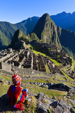 HMS0462119 Peru, Cuzco Province, Incas sacred valley, Inca archeological site of Machu Picchu, listed as World Heritage by UNESCO, built in the 15th century under the reign of Pachacutec (Pachacuti Inca Yupanqui...