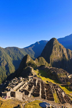 HMS0891763 Peru, Cuzco Province, Incas sacred valley, Inca archeological site of Machu Picchu, listed as World Heritage by UNESCO, built in the 15th century under the reign of Pachacutec (Pachacuti Inca Yupanqui...