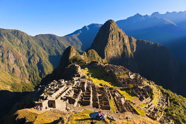 HMS0891764 Peru, Cuzco Province, Incas sacred valley, Inca archeological site of Machu Picchu, listed as World Heritage by UNESCO, built in the 15th century under the reign of Pachacutec (Pachacuti Inca Yupanqui...