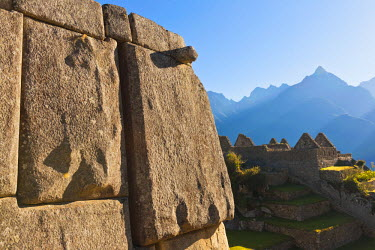 HMS0891765 Peru, Cuzco Province, Incas sacred valley, Inca archeological site of Machu Picchu, listed as World Heritage by UNESCO, built in the 15th century under the reign of Pachacutec (Pachacuti Inca Yupanqui...
