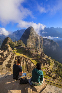 HMS1754149 Peru, Cuzco Province, the Sacred Valley of the Incas, Inca archaeological site of Machu Picchu, listed as World Heritage by UNESCO, built during the reign of the Inca Pachacutec in the fifteenth centu...