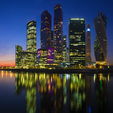 RU01405 Russia, Moscow, skyscrappers of the Modern Moscow-City International  business and finance development