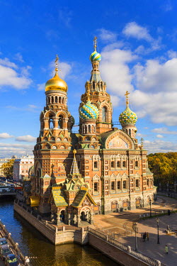 Domes of Church of the Saviour on Spilled Blood, Saint Petersburg, Russia