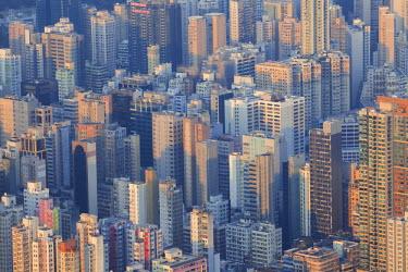 TPX49400 China, Hong Kong, Kowloon, Kowloon Skyline